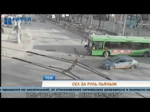 В Перми пьяный водитель стал виновником ДТП с автобусом