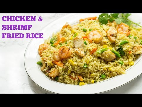 Chicken and Shrimp Fried Rice - African Style - Best Fried Rice Recipe - Precious Kitchen - Ep 44