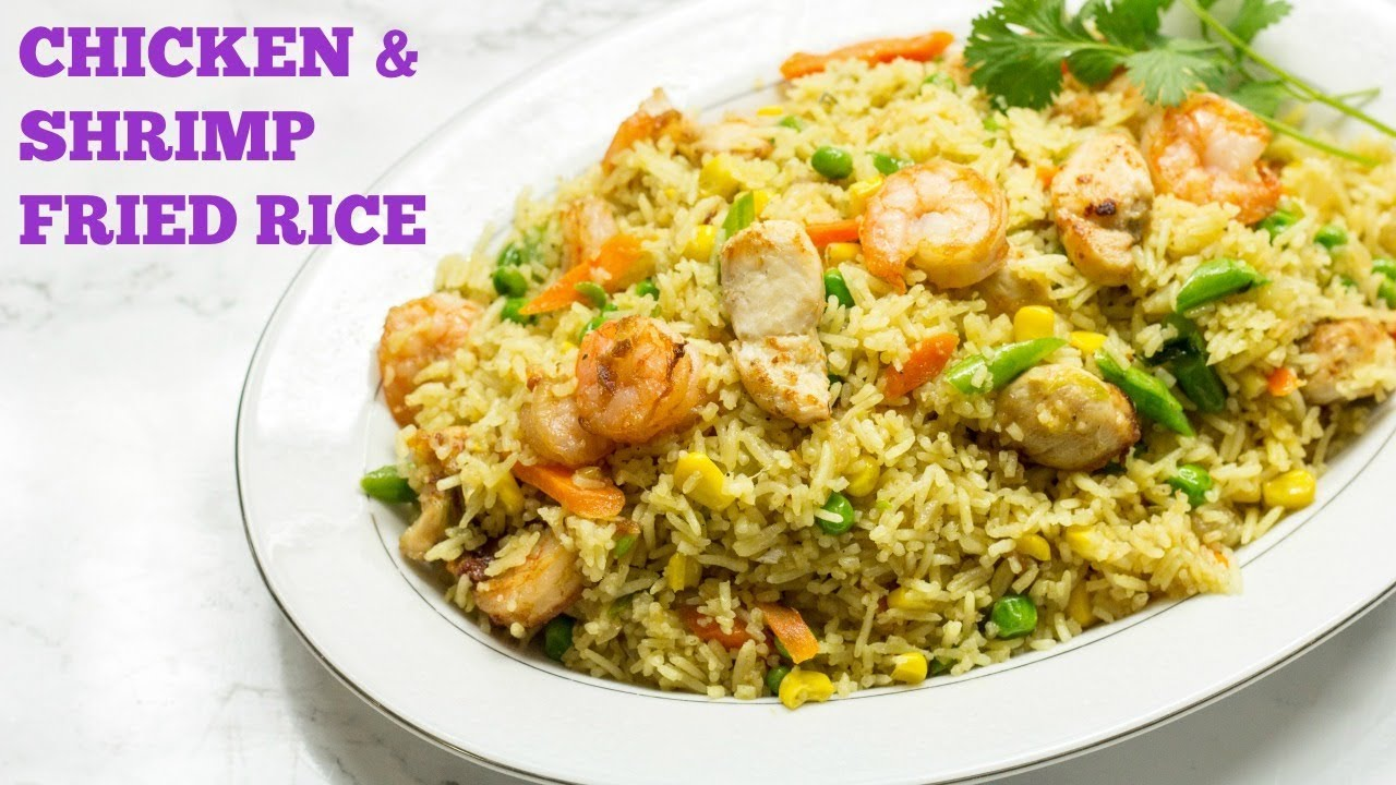 Chicken And Shrimp Fried Rice African Style Best Fried Rice Recipe Precious Kitchen Ep 44 Youtube