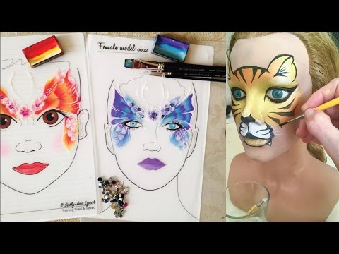 Fun face painting practice, without kids! - Face Painting Made Easy PART 7