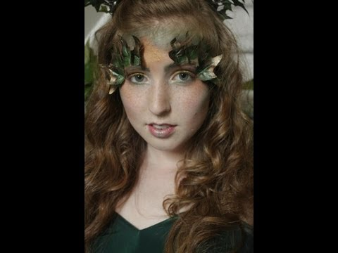 poison-ivy-halloween-makeup-&-hair