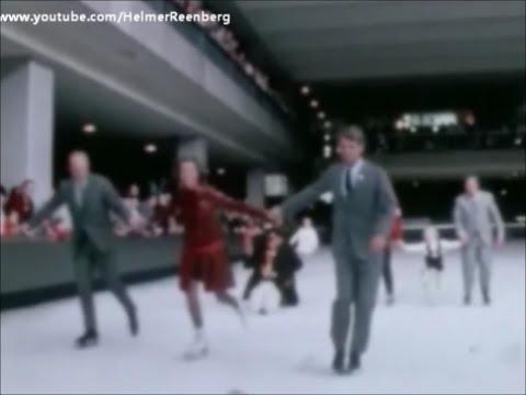 May 25, 1968 - Robert F. Kennedy, Ethel Kennedy and John Glenn ice skating in Lloyd Center Ice Rink