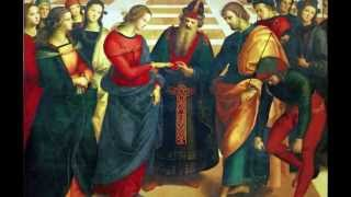 Raphael's Marriage of the Virgin, 1504, oil on panel, 174 cm × 121 ...
