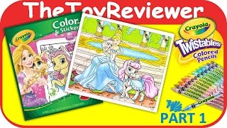 Part 1 - Disney Princesses Palace Pets Coloring Colored Pencils Unboxing Toy Review TheToyReviewer