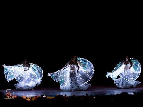 Звёздная соната | Led wings bellydance | Amrita (Moscow)