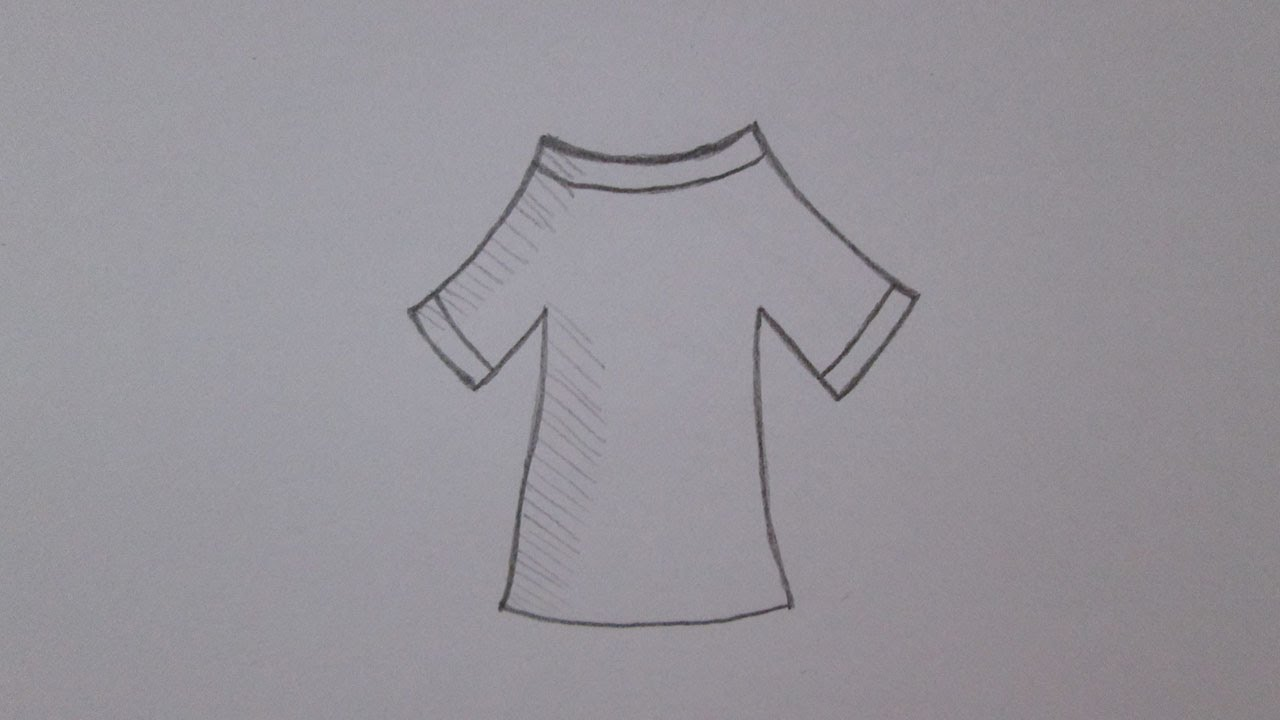 C mo dibujar una camisa youtube for Papel para dibujar
