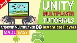 Unity Multiplayer tutorials Google play game services (Player Instantiate) [08]