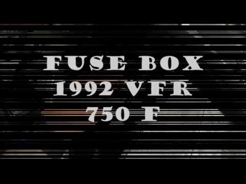 1992 vfr 750 f fuse box open and close electrical box