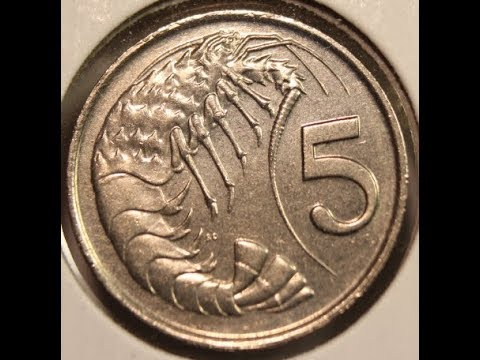 5 and 10 Cents coins of CAYMAN ISLANDS in HD