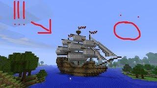 Secret Giant ship in minecraft!?! || PC, NEXT GEN