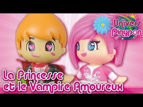 Le vampire amoureux reoit la visite de la princesse dans la Ville Pinypon !
