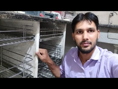 Kitchen में ! Ss Basket कैसे लगाते हैं ? Fitting SS Basket Modular Kitchen (wood Work Zk)