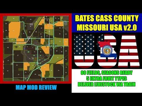 "Farming Simulator 17 - Bates Cass County Missouri USA ""Updated v3.0"" (4x Map) ""Map Mod Review"""