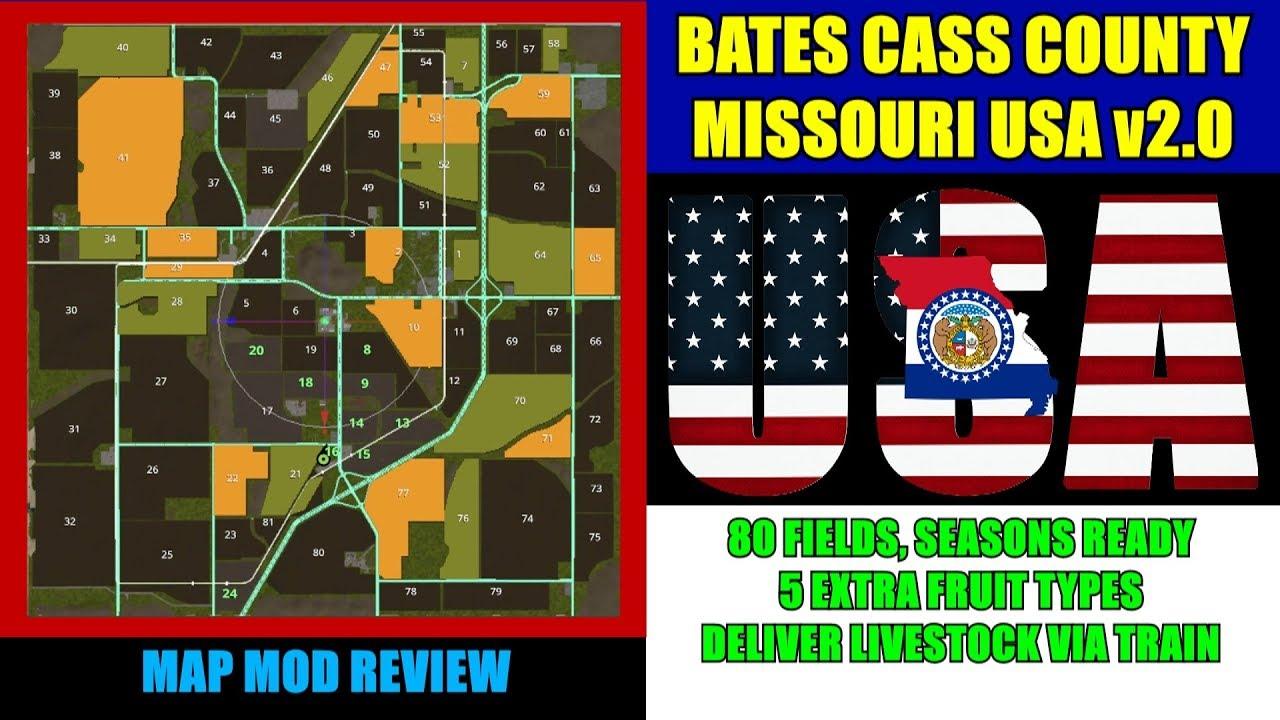 Farming Simulator 17 - Bates Cass County Missouri USA