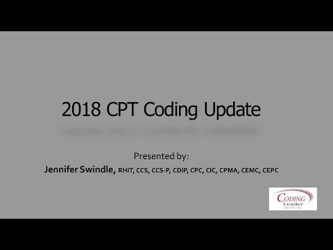 2018 CPT Coding Update