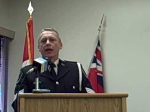 Detective Sergeant Tim Burtt at child sexual exploitation news conference