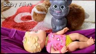 Baby Alive Doll and Talking Tom Singing London Bridge is Falling Down