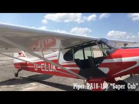Piper PA-18 Super Cub Slipping LOLW