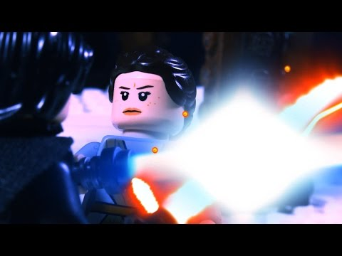 STAR WARS The Force Awakens in LEGO - Behind the scenes part 4 ( Rey vs Kylo Ren )