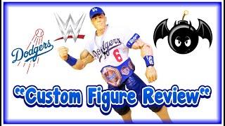 Custom WWE Elite Los Angeles Dodgers John Cena figure review.