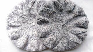 Вязание. Интересный берет. Подробный мк. //Knitting, beret, mk.