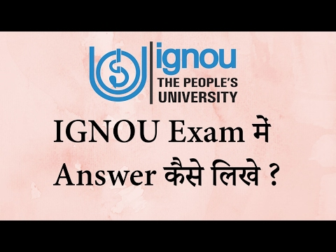 How to Write IGNOU Exam Papers