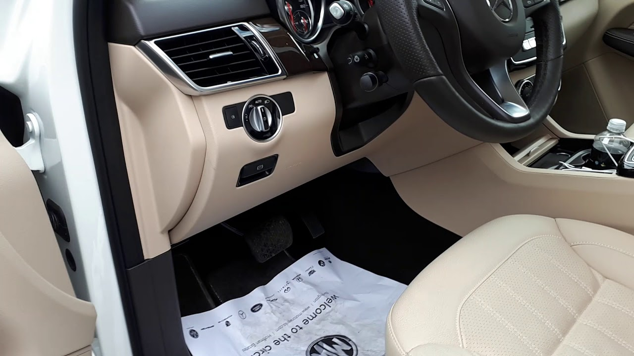 How to open Mercedes Benz GLE 350 front hood - YouTube