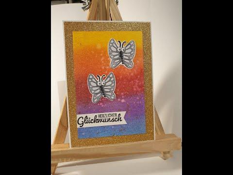 Regenbogen Hintergrund mit Dystress Inks | ColorBox | tutorial | Anleitung thumbnail
