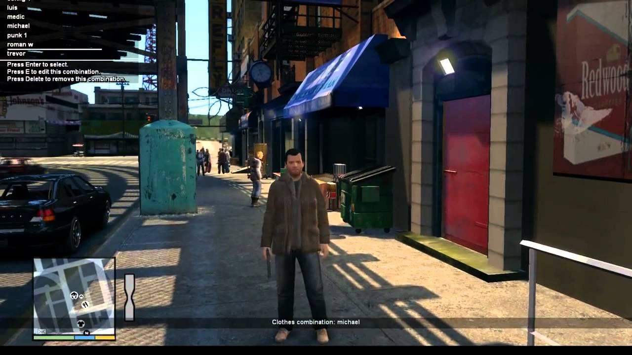 GTA IV Clothes combination script mod