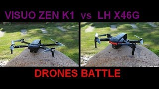 VISUO ZEN K1 vs LH X46G , BATTLE , comparaison autonomie , video , failsafe
