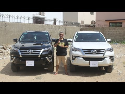 Official Comparison - ECarPak - Toyota Fortuner 2017 Petrol Vs Toyota Fortuner 2018 Diesel