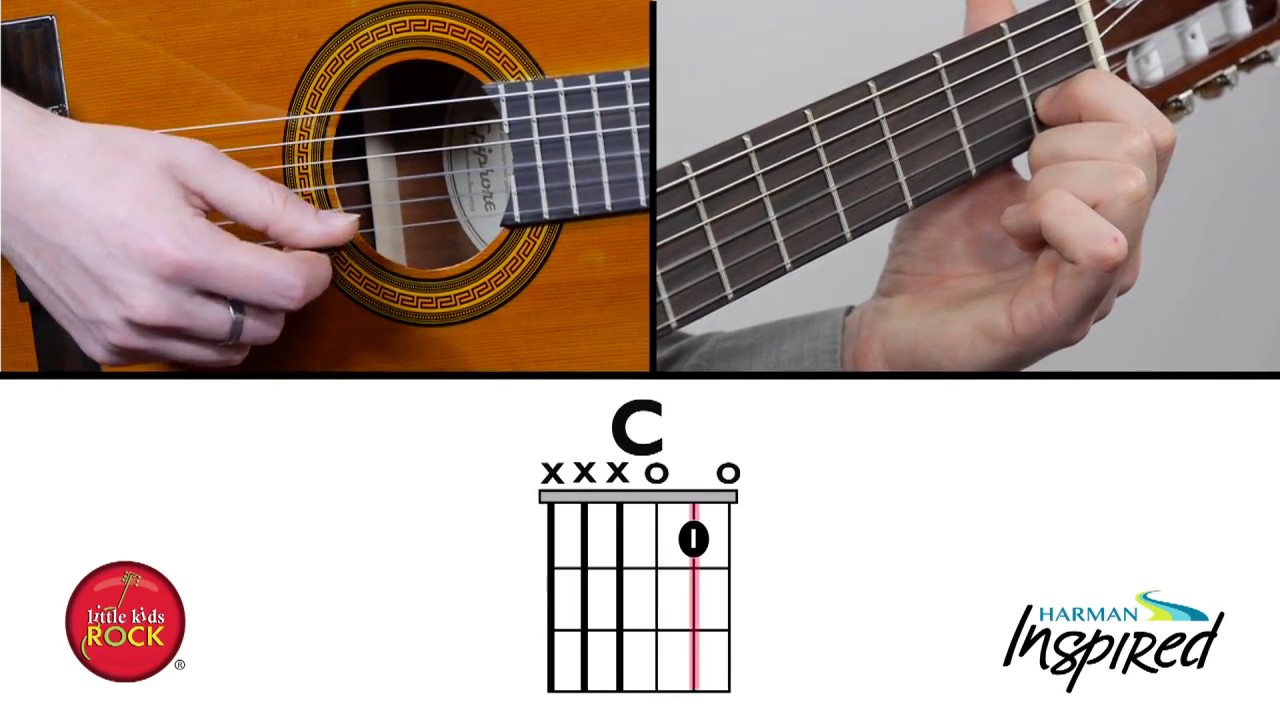 Beginner Guitar Easy C Chord Lesson 2 Unit 1 Easy 3 String