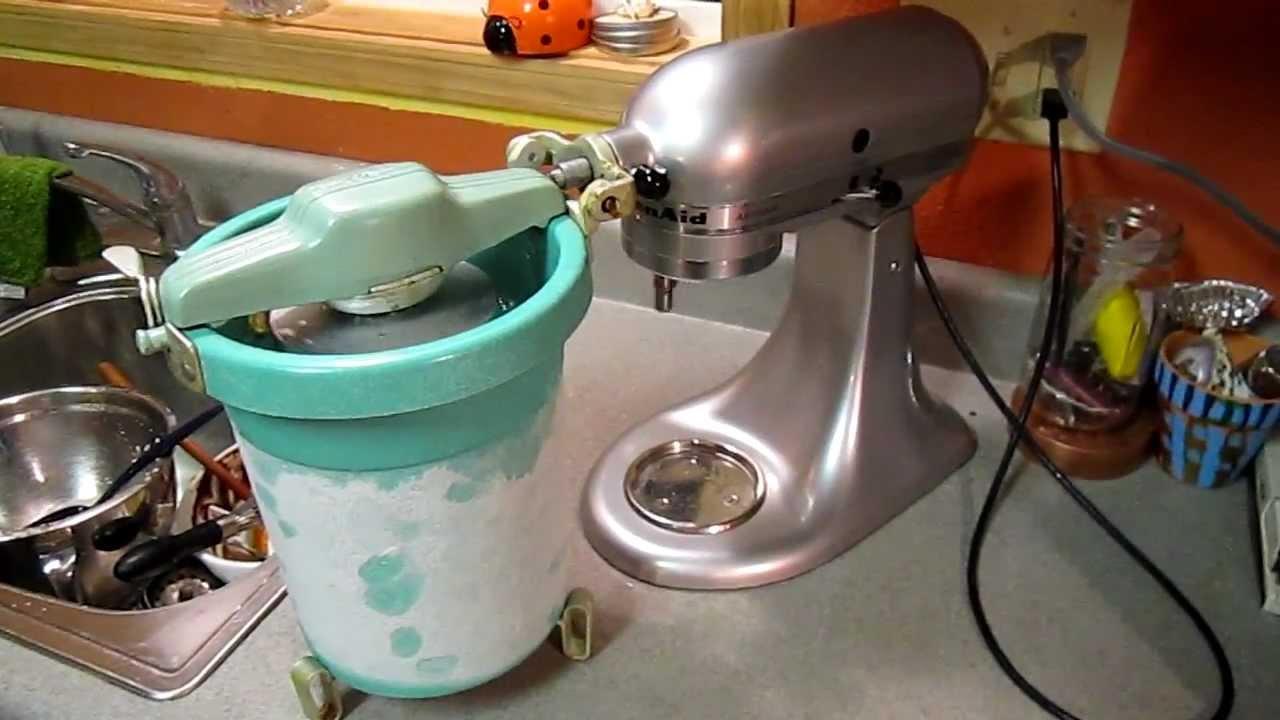 Vintage Kitchenaid Ice Cream Maker  Freezer Kitchen Aid