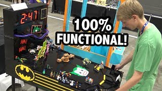Functional LEGO Pinball Machine with Roller Coaster!