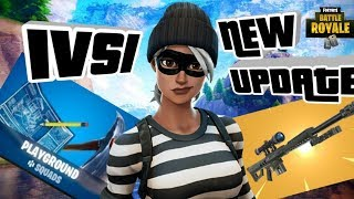 NEW HEAVY SNIPER UPDATE PLAYGROUND 1V1 WITH SUBS DECENT CONSOLE PLAYER FORTNITE BATTLE ROYALE