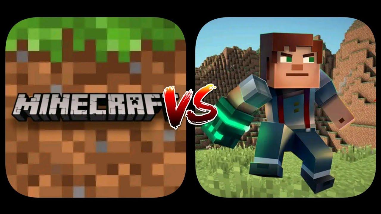 Minecraft PE VS Multicraft : Pocket Edition - Block Building Game