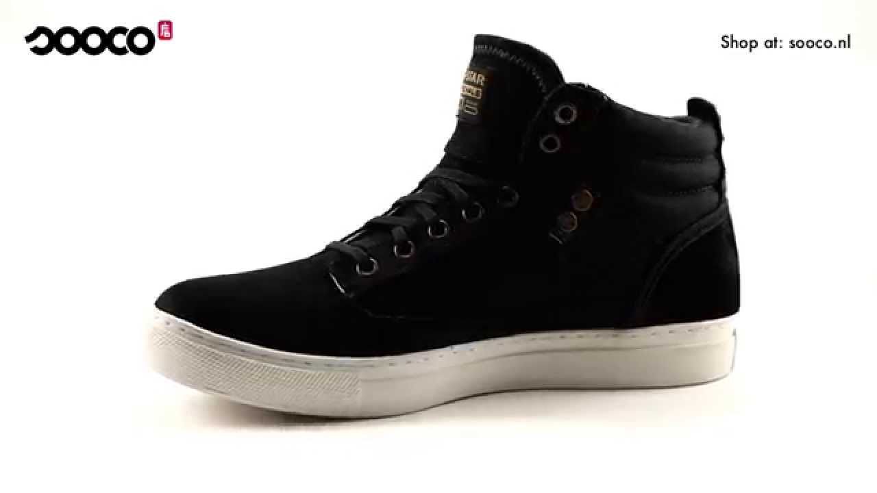 61e5522bd93 ART OF RAW | G-Star augur jeddar black denim leather sneakers - YouTube