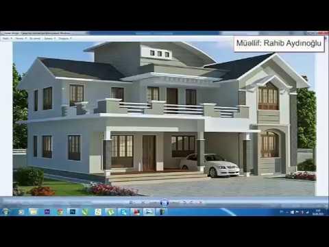AutoCAD, 3DsMax, VRay, Photoshop Exterior Design tutorial