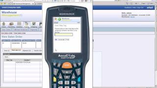 Intuit Warehouse Management ES: Demo 5 Sales Order Fulfillment with Mobile Barcode Scanner