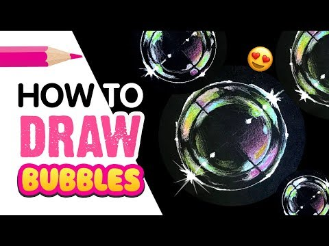 How To Draw Photo-Realistic Bubbles!! EASY Back To School DIY!!