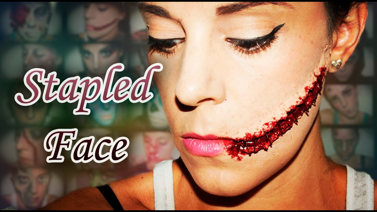 Halloween FX Makeup Stapled face | Silvia Quiros - YouTube