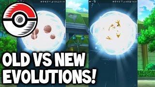 old evolution vs new evolution new pokemon go update gameplay pokemon go evolution spree