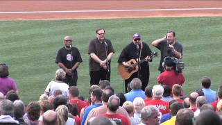 The Smithereens sing the National Anthem at the Philadelphia Phillies Game - 7/22/11