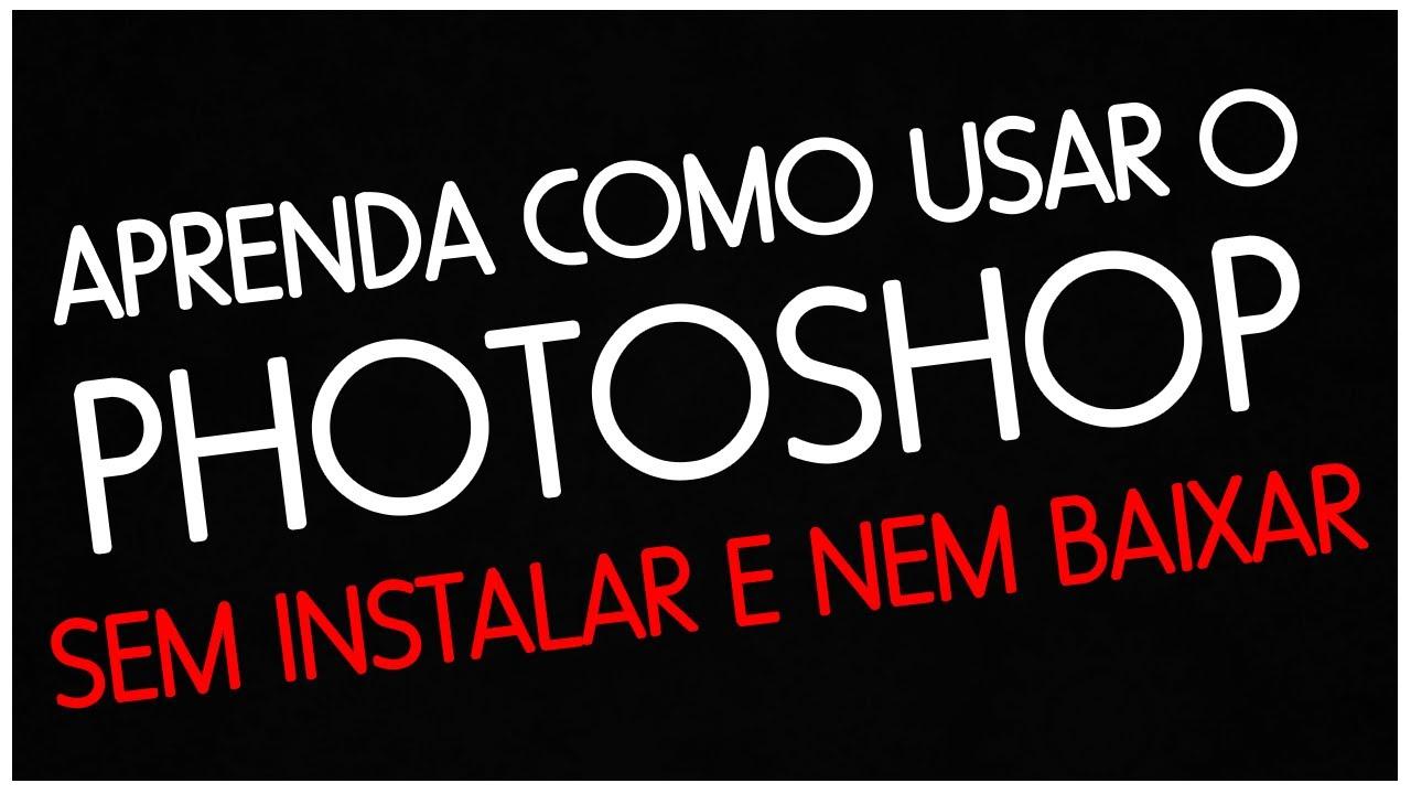 como usar photo shop
