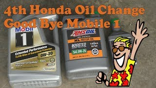 4th Honda Oil change with oil filter cut open|Good bye Mobil One???