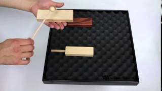 2-Tone Woodblock Beech 14.6cm - 3+ video