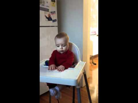 High chair in the kitchen