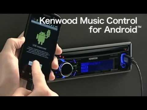 Music Control For Android   Kenwood Step Up USB CD Receiver wmv