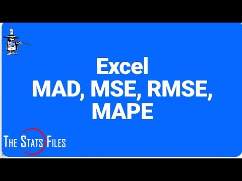 Use Excel to Calculate MAD, MSE, RMSE & MAPE - Evans Chapter 7