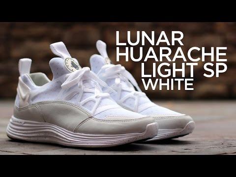 cf06ea217c86b Closer Look: Nike Lunar Huarache Light SP - White - YouTube